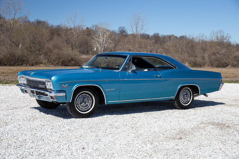 Marina Blue 1966 Chevrolet Impala Ss For Sale Mcg