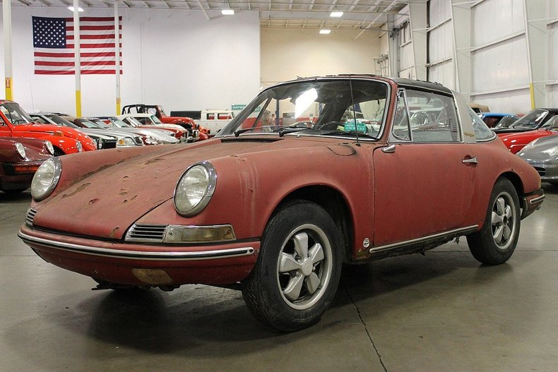 polo red 1968 porsche 911 for sale mcg marketplace. Black Bedroom Furniture Sets. Home Design Ideas