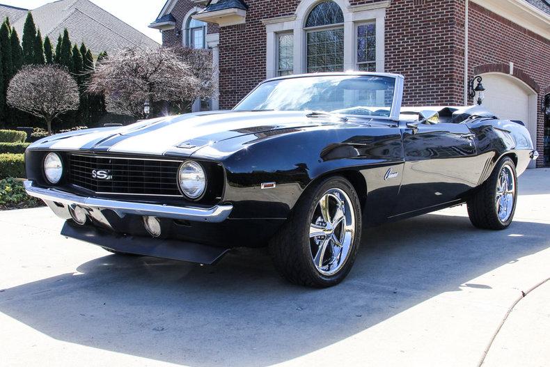 Black 1969 Chevrolet Camaro Convertible For Sale Mcg