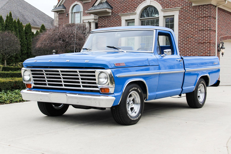 Blue 1967 ford f100 for sale mcg marketplace Ford motor auto sales