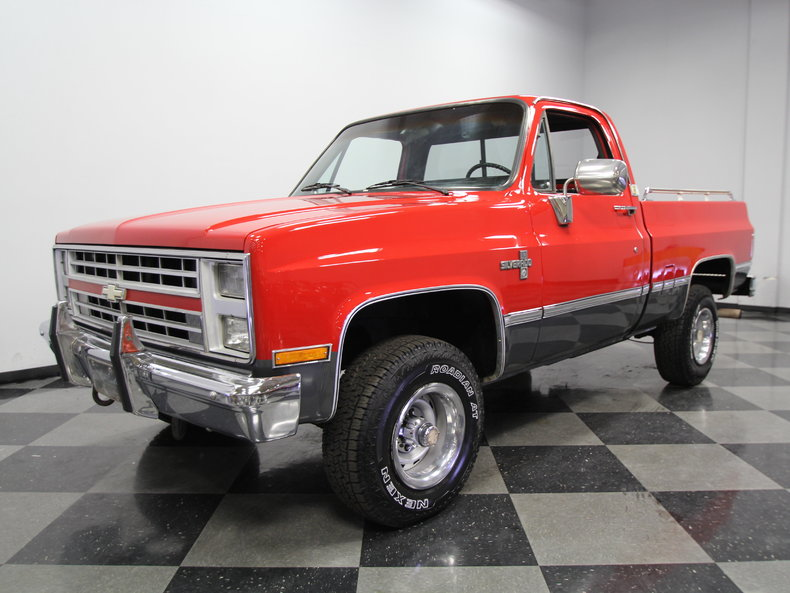 red 1987 chevrolet silverado for sale mcg marketplace. Black Bedroom Furniture Sets. Home Design Ideas
