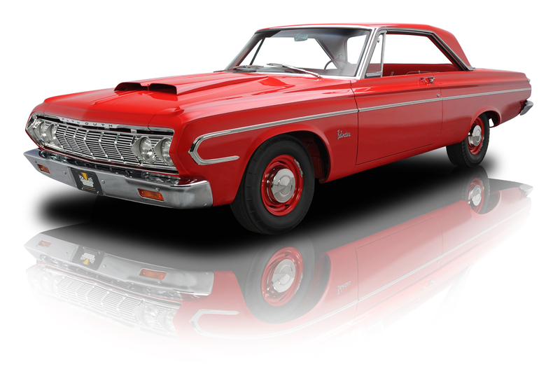 ruby red 1964 plymouth belvedere for sale mcg marketplace. Black Bedroom Furniture Sets. Home Design Ideas