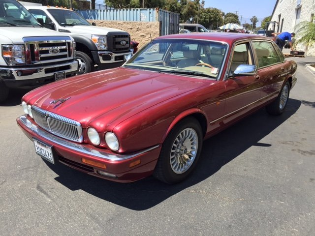 red 1996 jaguar vanden plas for sale mcg marketplace. Black Bedroom Furniture Sets. Home Design Ideas