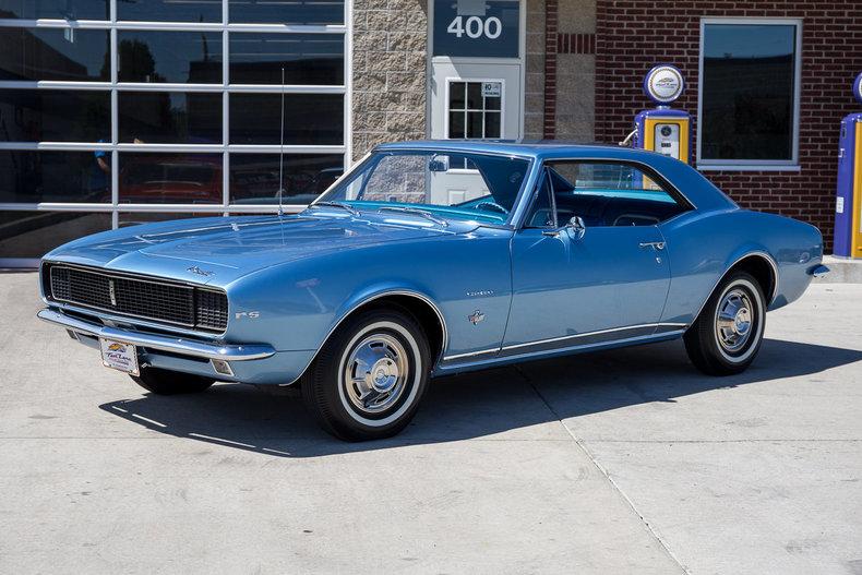 Nantucket Blue 1967 Chevrolet Camaro Rs For Sale Mcg