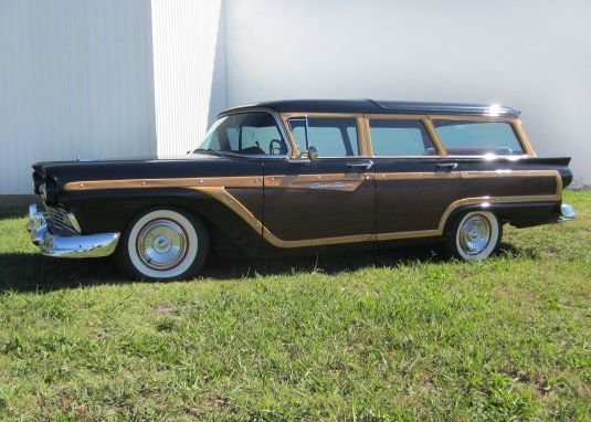 black 1957 ford country squire station wagon for sale mcg marketplace. Black Bedroom Furniture Sets. Home Design Ideas