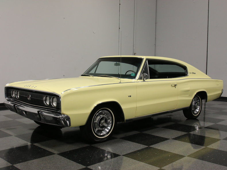 yellow 1966 dodge charger for sale mcg marketplace. Black Bedroom Furniture Sets. Home Design Ideas