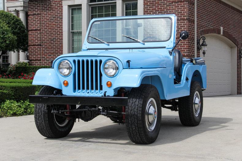 Light Blue 1960 Jeep Cj For Sale Mcg Marketplace
