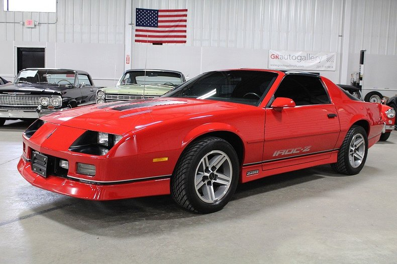 red 1986 chevrolet camaro iroc z 28 for sale mcg marketplace. Black Bedroom Furniture Sets. Home Design Ideas