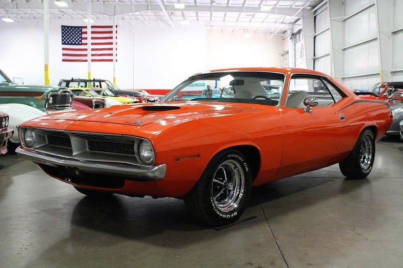 Orange 1970 plymouth barracuda for sale mcg marketplace for Garage auto orange