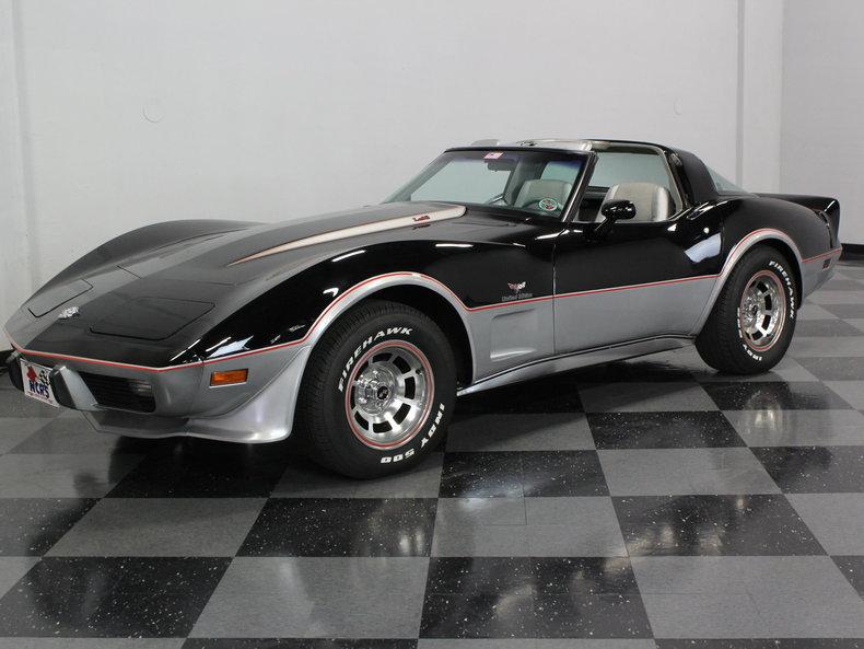 black 1978 chevrolet corvette pace car for sale mcg marketplace. Black Bedroom Furniture Sets. Home Design Ideas