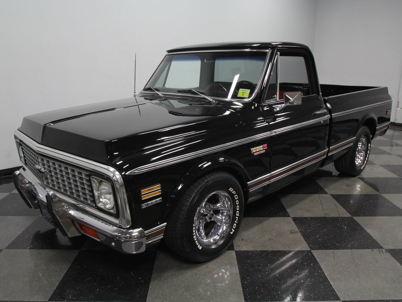 Black 1972 Chevrolet C10 For Sale | MCG Marketplace