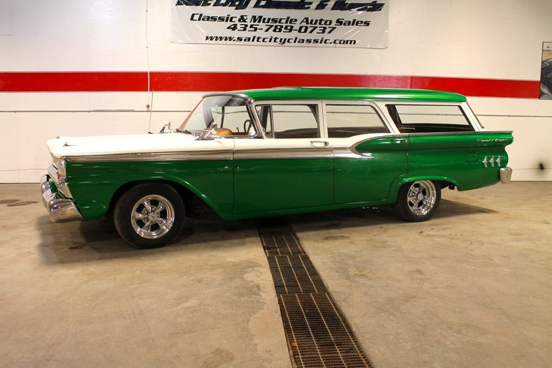 Shamrock Green 1959 Ford Ranch Wagon For Sale | MCG Marketplace