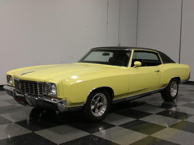 Yellow 1972 Chevrolet Monte Carlo For Sale Mcg Marketplace