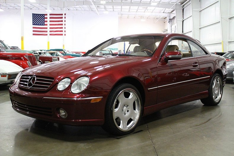 bordeaux red 2000 mercedes benz cl500 for sale mcg marketplace. Black Bedroom Furniture Sets. Home Design Ideas