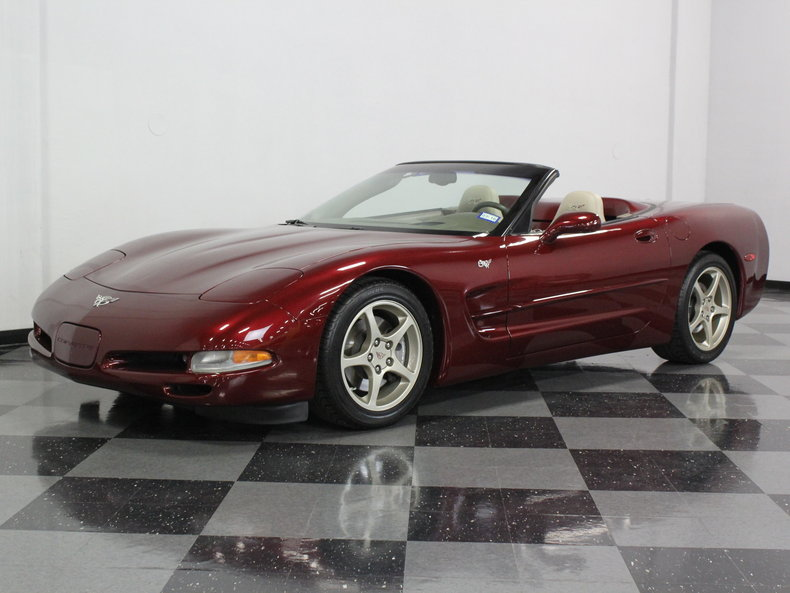 ruby red metallic 2003 chevrolet corvette 50th anniversary for sale mcg marketplace. Black Bedroom Furniture Sets. Home Design Ideas