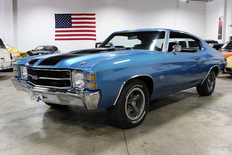 Mulsanne Blue 1971 Chevrolet Chevelle Ss For Sale Mcg