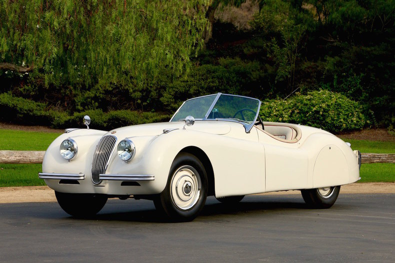 white 1950 jaguar xk120 for sale mcg marketplace. Black Bedroom Furniture Sets. Home Design Ideas