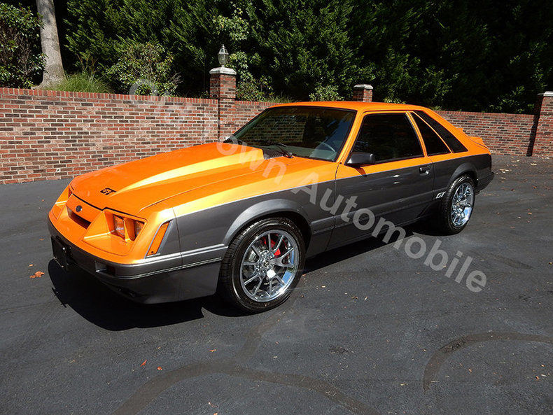 Orange pearl 1986 ford mustang gt for sale mcg marketplace for Garage ford orange