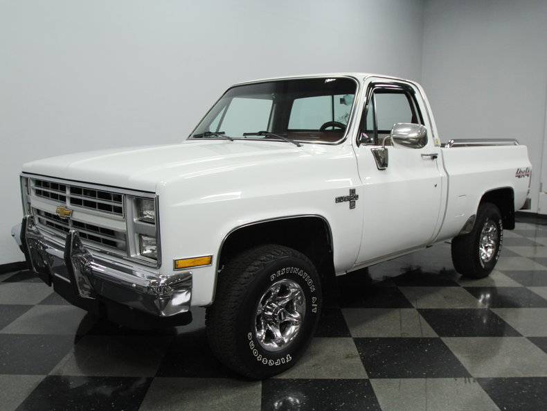 white 1985 chevrolet silverado 1500 4x4 for sale mcg marketplace. Black Bedroom Furniture Sets. Home Design Ideas