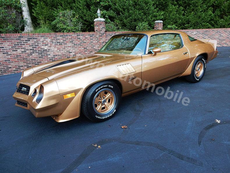 gold 1978 chevrolet camaro z28 for sale mcg marketplace. Black Bedroom Furniture Sets. Home Design Ideas