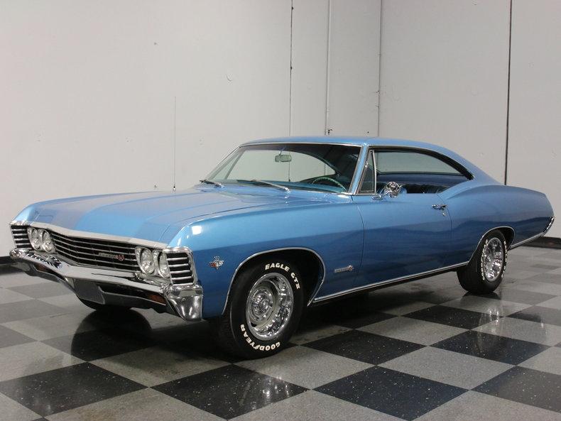 marina blue 1967 chevrolet impala ss for sale mcg marketplace. Black Bedroom Furniture Sets. Home Design Ideas