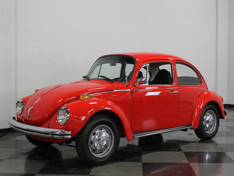 red 1973 volkswagen super beetle for sale mcg marketplace. Black Bedroom Furniture Sets. Home Design Ideas