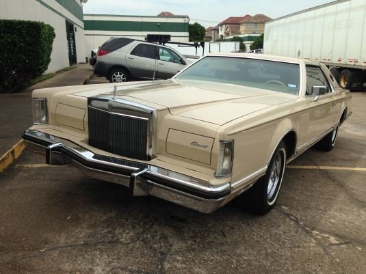 cream 1978 lincoln continental for sale mcg marketplace. Black Bedroom Furniture Sets. Home Design Ideas