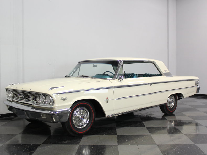 corinthian white 1963 ford galaxie 500 xl for sale mcg. Black Bedroom Furniture Sets. Home Design Ideas