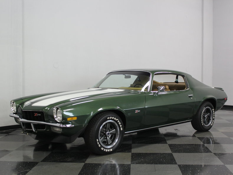 forest green 1970 chevrolet camaro z28 for sale mcg marketplace. Black Bedroom Furniture Sets. Home Design Ideas