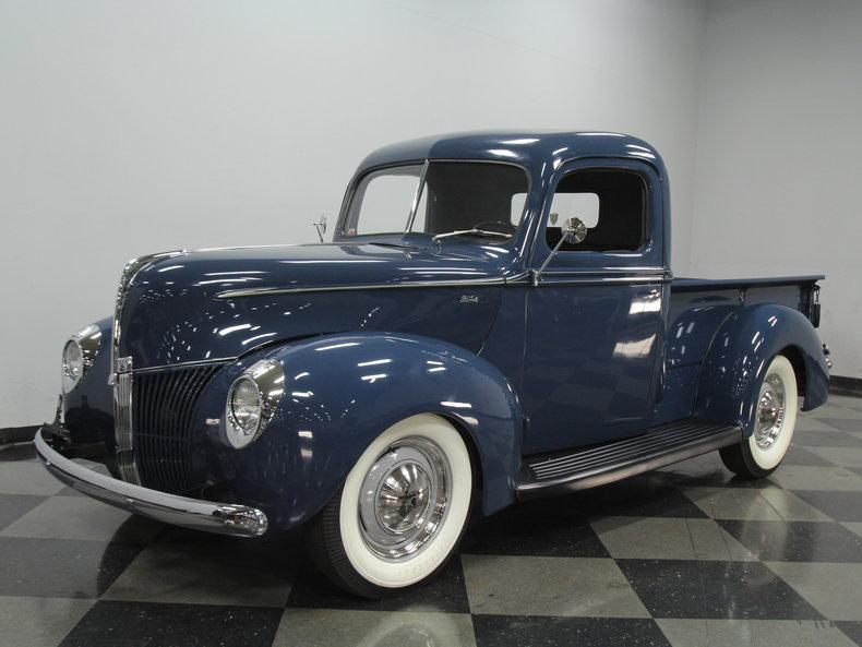 blue 1940 ford pickup for sale mcg marketplace. Black Bedroom Furniture Sets. Home Design Ideas