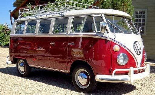 burgundy metallic 1966 volkswagen vanagon for sale mcg marketplace. Black Bedroom Furniture Sets. Home Design Ideas