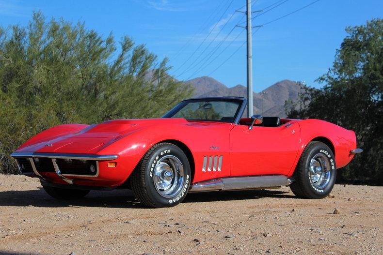 torch red 1969 chevrolet corvette stingray for sale mcg marketplace. Black Bedroom Furniture Sets. Home Design Ideas