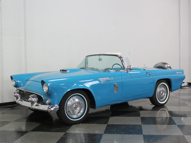 peacock blue 1956 ford thunderbird for sale mcg marketplace. Black Bedroom Furniture Sets. Home Design Ideas