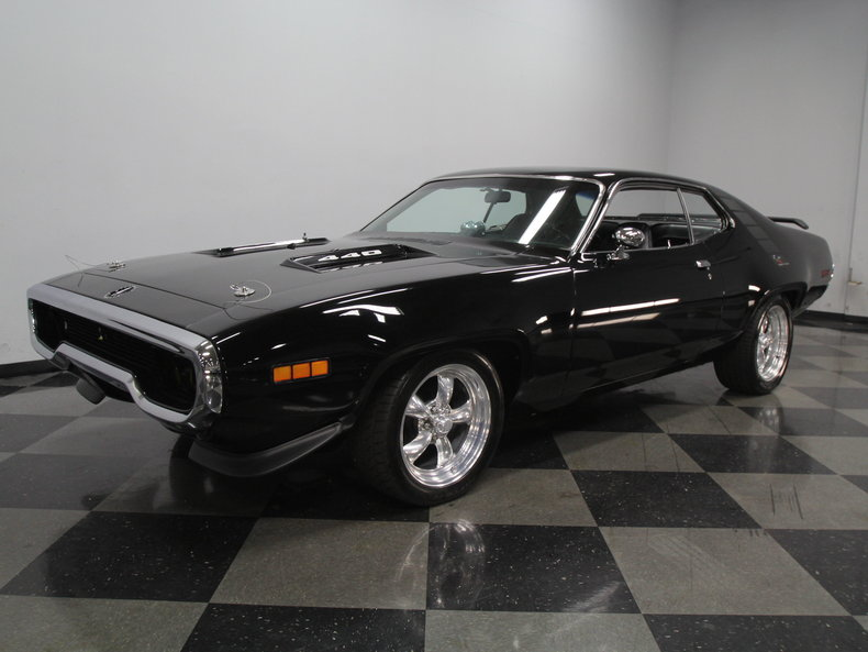 black 1971 plymouth road runner for sale mcg marketplace. Black Bedroom Furniture Sets. Home Design Ideas
