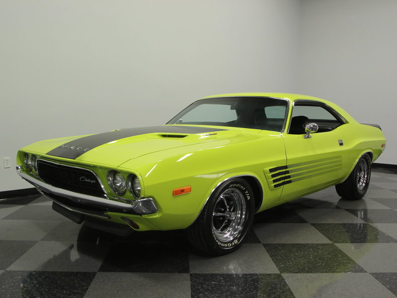 curious yellow 1974 dodge challenger for sale mcg marketplace. Black Bedroom Furniture Sets. Home Design Ideas