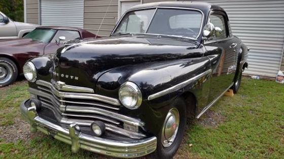 black 1949 plymouth business coupe for sale mcg marketplace. Black Bedroom Furniture Sets. Home Design Ideas