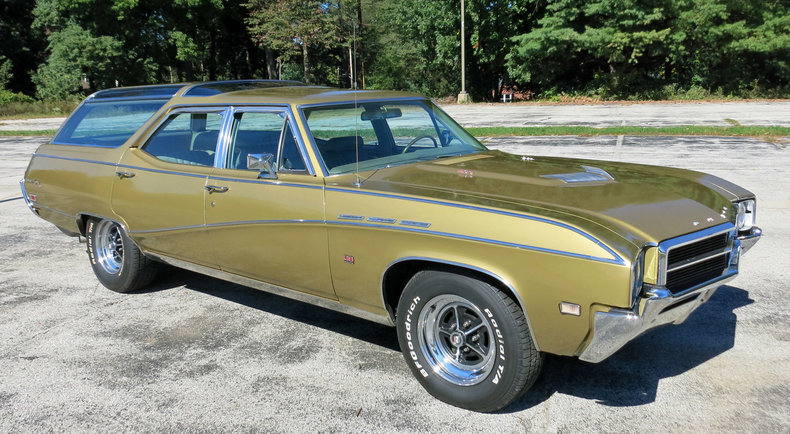 gold mist 1969 buick sport wagon for sale mcg marketplace. Black Bedroom Furniture Sets. Home Design Ideas