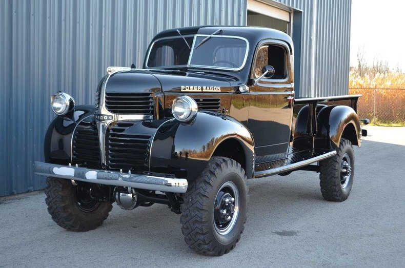 Black 1947 dodge power wagon for sale mcg marketplace for Motorized wagon for sale