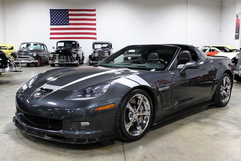 cyber gray metallic 2010 chevrolet corvette grand sport for sale mcg marketplace. Black Bedroom Furniture Sets. Home Design Ideas
