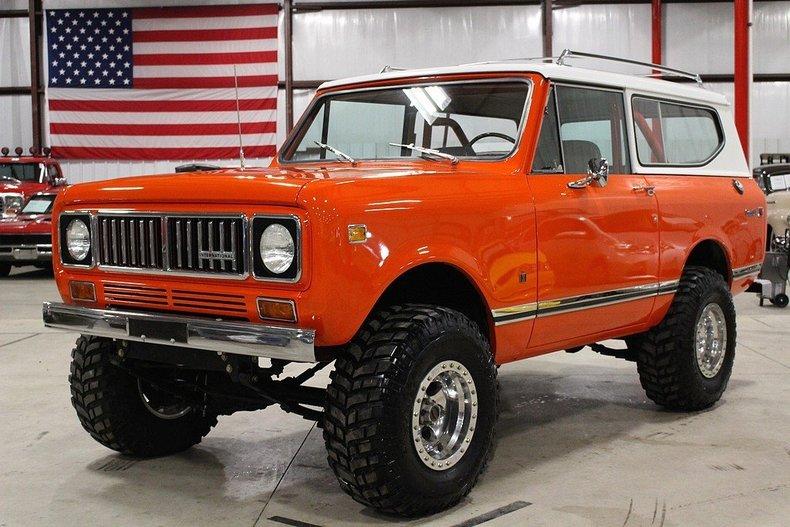 Orange 1975 international scout ii for sale mcg marketplace for Garage ford orange