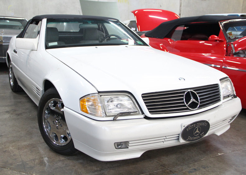 Polar white 1995 mercedes benz sl500 for sale mcg for 1995 mercedes benz sl500