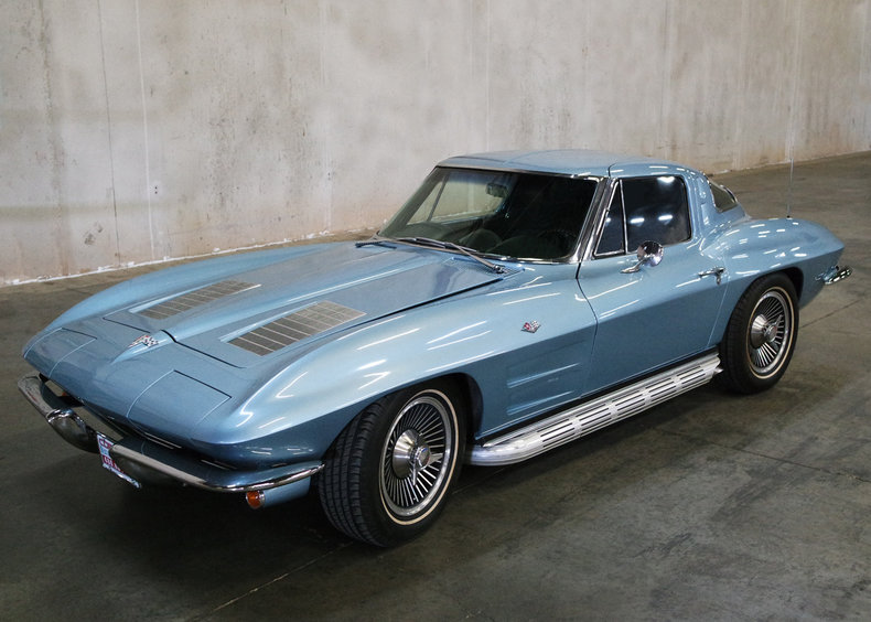 Silver blue 1963 chevrolet corvette split window for sale for 1963 corvette for sale split window