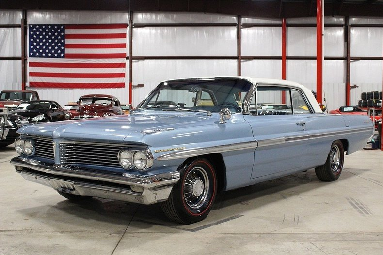 Yorktown blue cameo white 1962 pontiac bonneville for for Garage auto bonneville