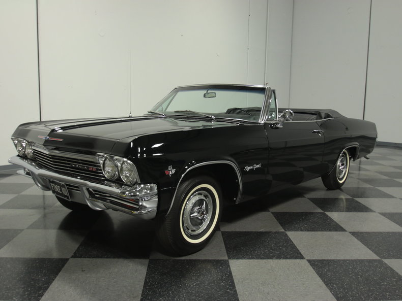 tuxedo black 1965 chevrolet impala ss 409 for sale mcg marketplace. Black Bedroom Furniture Sets. Home Design Ideas