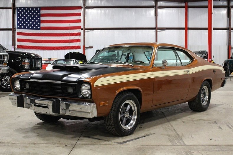 bronze mettalic 1974 plymouth duster for sale mcg marketplace. Black Bedroom Furniture Sets. Home Design Ideas