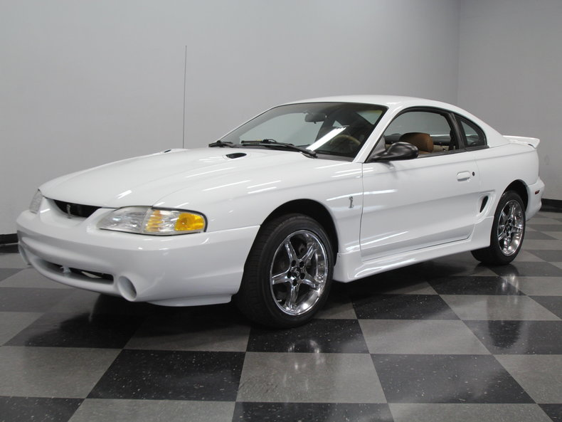 crystal white 1996 ford mustang cobra for sale mcg. Black Bedroom Furniture Sets. Home Design Ideas
