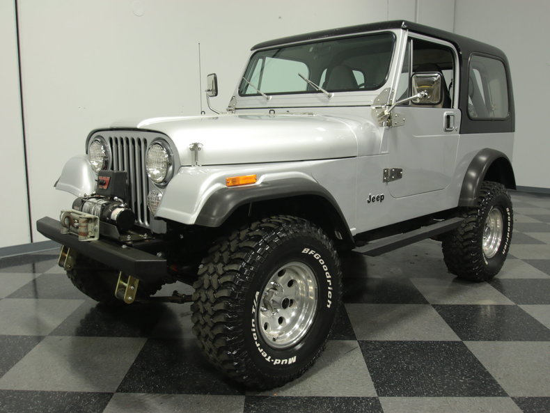 Jeeps For Sale In Ga >> Silver 1986 Jeep Cj7 For Sale | MCG Marketplace