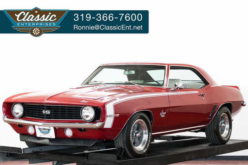 Garnet Red 1969 Chevrolet Camaro Ss For Sale Mcg Marketplace