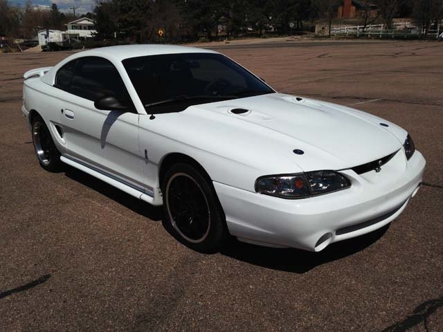 white 1997 ford mustang cobra for sale mcg marketplace. Black Bedroom Furniture Sets. Home Design Ideas