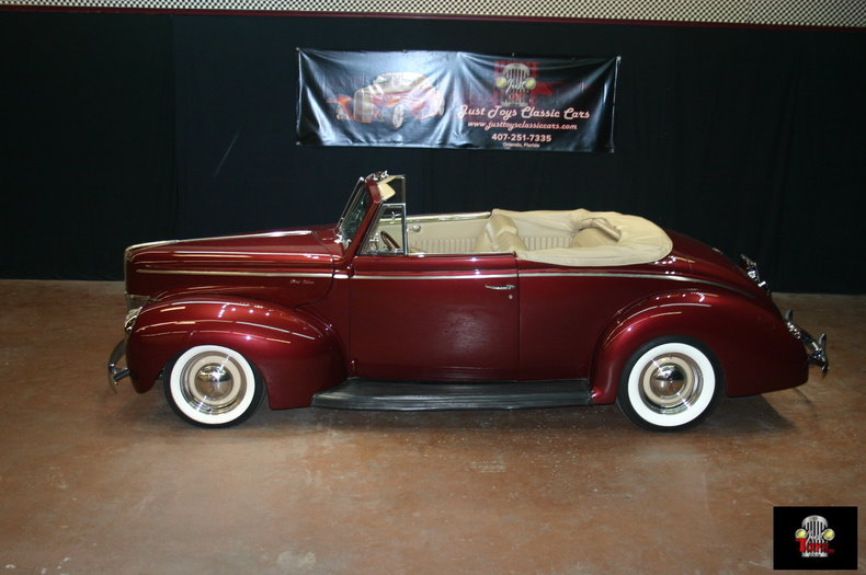 mercedes bordeaux red 1940 ford deluxe for sale mcg marketplace. Black Bedroom Furniture Sets. Home Design Ideas